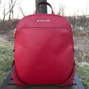 Michael Kors Emmy Large Dome Backpack Leather